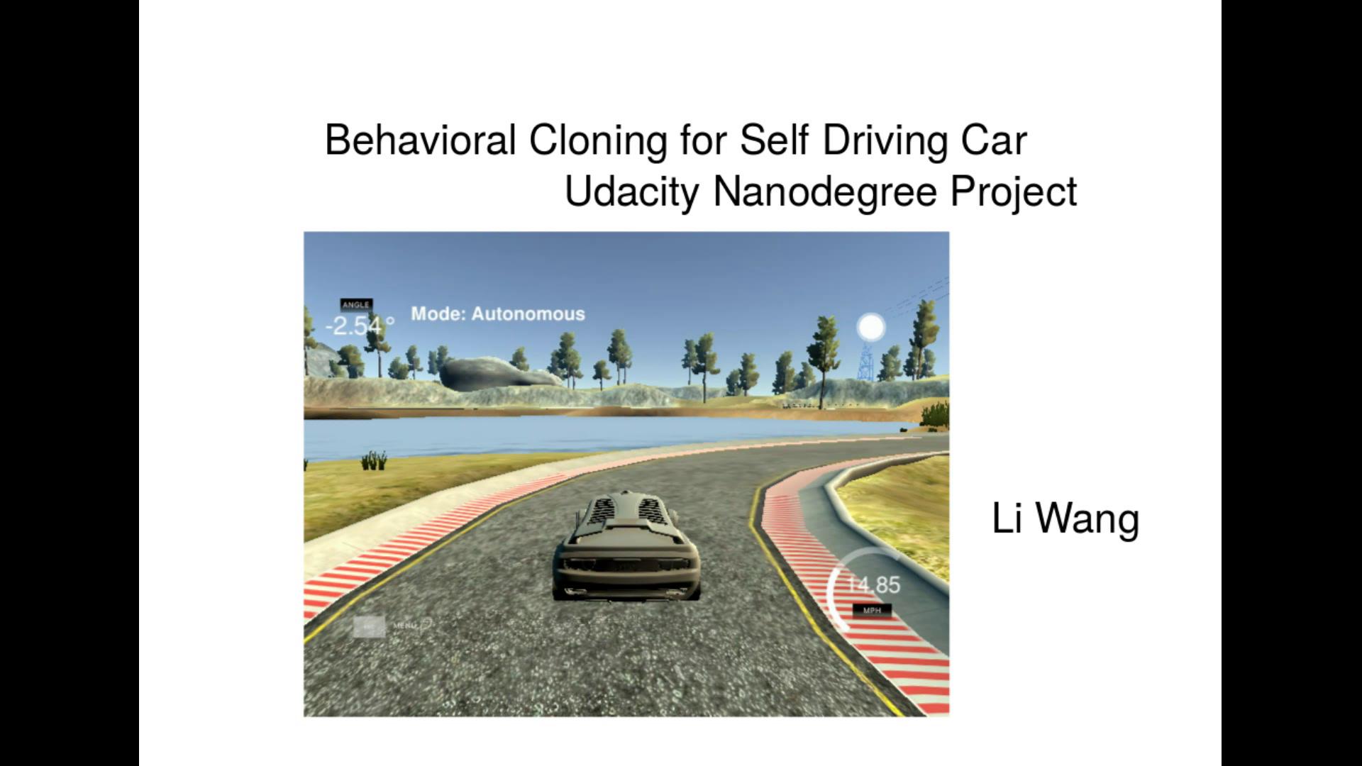 Self-Driving Car Learning Blog - Li Wang / Ph D